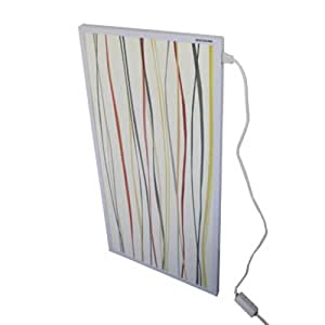 Mauk radiatore a infrarossi da parete a forma di quadro for Pannello radiante infrarossi amazon