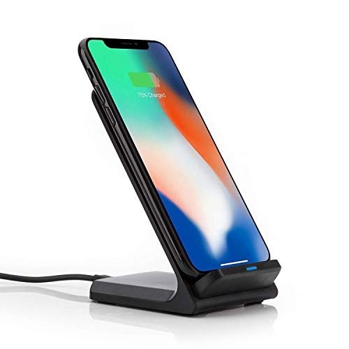 Qi Dockingstation Ladestation Wireless Charger Ladegerät kompatibel mit iPhone Xs Max, Xr, Xs, X, 8, 8 Plus, Huawei P30 Pro, 20 Pro, Mate 20 Pro, Samsung Galaxy S10, S9 Plus, S9, S8, Note 9, etc.