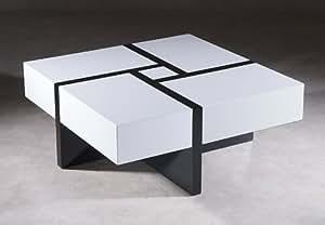 PUZZLE TABLE BASSE NOIR ET BLANC