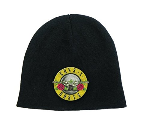 Guns N Roses Beanie Hat Cap Band Logo GNR Bullet Official Black One Size