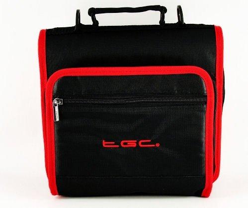 new-jet-negro-y-rojo-carmesi-adornos-y-revestimientos-deluxe-doble-compartimento-hombro-bolsa-de-tra