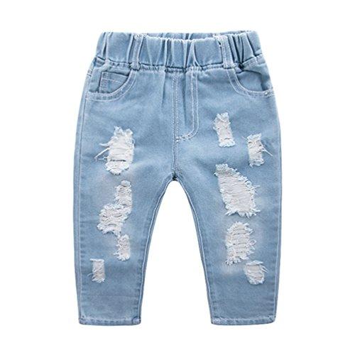 Yujeet moda pelle-amichevole jeans morbidi e traspiranti comodi jeans strappati con piccole tasche per bambini e ragazzi come immagine 110