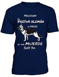 TEEZILY El Que muerde Soy yo: Pastor ALEMÁN Camiseta Hombre
