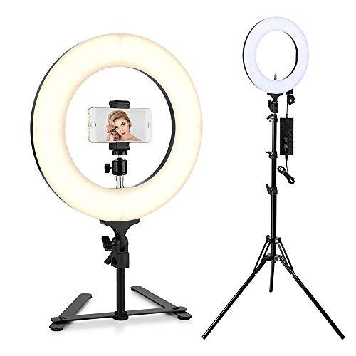 Houzetek 14 Zoll Äußere Ring Licht 336 LED Ringleuchte 65W 2700K-5500K Dimmbare Ringlicht mit Stativ für Kamera Smartphone Video Make up Selfie