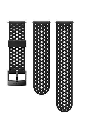 SUUNTO Uhrenarmband Zubehör, Unisex-Erwachsene Herren, 24mm Silicone, Black- Athletic, 24mm ; S+M (120-230 mm) -