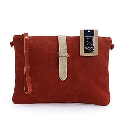 OH MY BAG Sac à Main pochette femme en cuir nubuck - Modèle Twiggy Nouvelle collection