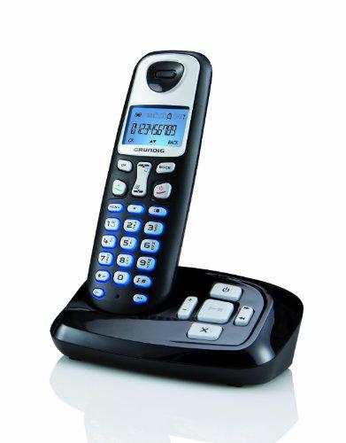 Grundig D210A DECT Schnurlostelefon mit Anrufbeantworter schwarz