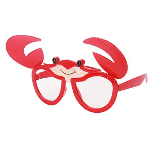 Baby Krabbe Kostüm - Baoblaze Lustige Partybrille Spaßbrille Sonnenbrille Mottobrille Karneval Fasching Halloween Kostüm Selfie-Requisit - Krabbe