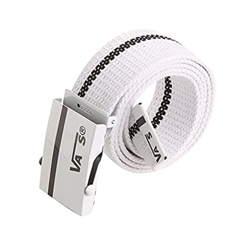 Sitong Unisex fashion casual striped canvas belt(white)