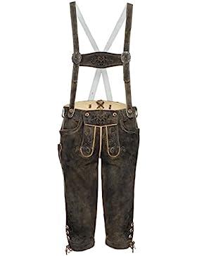 Michaelax-Fashion-Trade Spieth & Wensky - Herren Trachten Lederhose mit Stegträgern, Folkert (290757-0613)