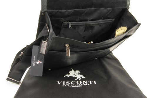 Borsa Messenger Visconti XL A4 Plus Notebook/ipad - Hunter -16054 Olio Nero