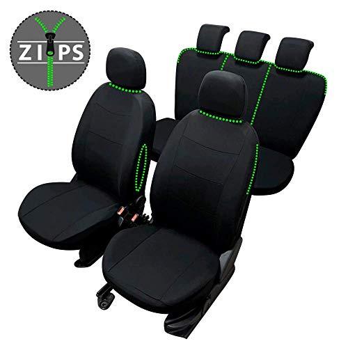 rmg-distribuzione Coprisedili per Clio Versione (2012 - in Poi (IV)) compatibili con sedili con airbag, bracciolo Laterale, sedili Posteriori sdoppiabili Colore Nero Grigio R18S0700