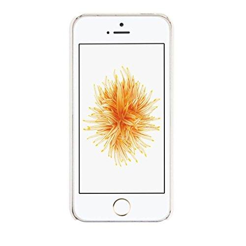 Ouneed® Luxux Geschnitzte Damast Weinlese Muster Matte Hard Case für Schutzhülle für iPhone SE 5 5S Case Cover (Weiß) Weiß