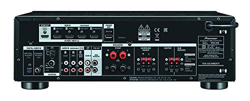 Pioneer HTP-076-B 5.1 Heimkinosystem mit Receiver und Lautsprecher Set (150 W/Kanal, Multiroom, Bluetooth, Dolby Atmos, Dolby Vision, 4K FullHD, Radio) Schwarz