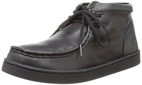Hush Puppies Bridgeport 2 Uniform Chukka Boot (Little Kid/Big Kid), Black, 2 W US Little Kid (Kleine Stiefel Puppy)