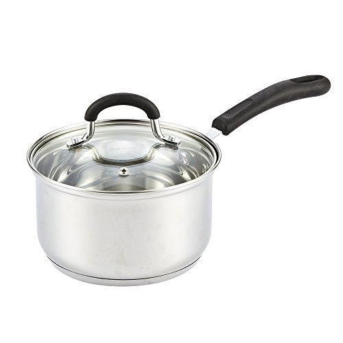 Cook N Home Stainless Steel Cookware 2 Quart Sauce Pan with Lid by Cook N Home