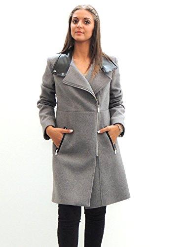 Cappotto donna Pinko in panno soft 1B10K25086 grigio 46