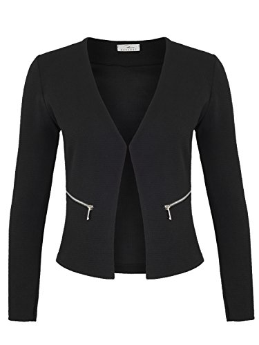 Damen Blazer mit Taschen ( 382 ), Farbe:Schwarz, Kostüme & Blazer für Damen:44 / XXL