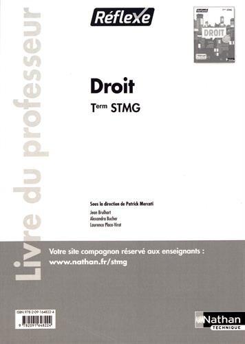 Droit Tle STMG Réflexe : Livre du professeur