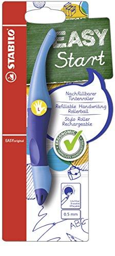 Ergonomischer Tintenroller - STABILO EASYoriginal in dunkelblau/hellblau - Schreibfarbe blau (löschbar) - inklusive Patrone - für Linkshänder