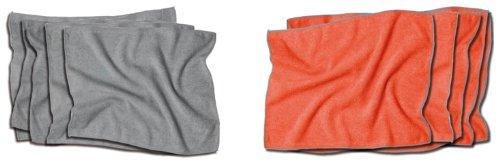 zilotex 95600 Das Brillenputztuch, 10er-Pack, grau, 12 x 10 cm, Mikrofaser-Brillenputztücher in Profi-Qualität, antibakteriell, streifenfrei hygienisch rein