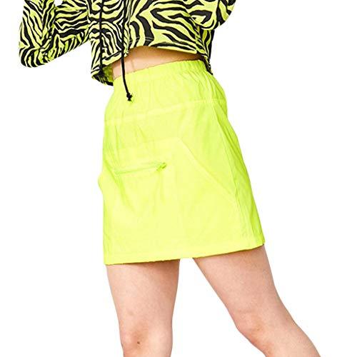 hen Tshirts Shorts Sommer Crop Tops Anzug Frauen böhmen sonnenblumenmuster Bluse Shorts Strand zweiteiliges Outfit Sets(Gelb,Small) ()