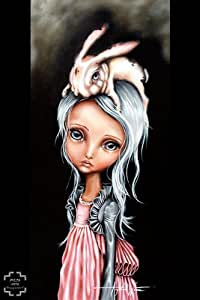 Bunny Couture Angelina Wrona fantaisie insolite lapin Fashion Print Poster (27,9 cm x 35.6 cm
