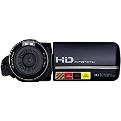 PowerLead Videocámaras Digitales HD 1080p, IR Visión Nocturna 24.0 Mega Píxeles Mejorada Cámara Digital ,16x Zoom, DV 2.7 LCD ,HDV Videocámara Portátil