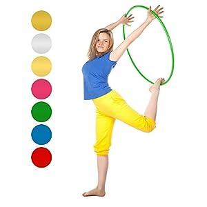 Niro Sportgeräte Hula Hoop Reifen Gymnastikreifen Fitnessreifen Trainingsreifen Turnreifen für Kinder und Erwachsene, robust, Kratzfest, bruchsicheres Aluminium, 90 cm