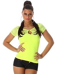 Jela Londres Ladies Top shirt T-shirt à manches courtes avec de la dentelle