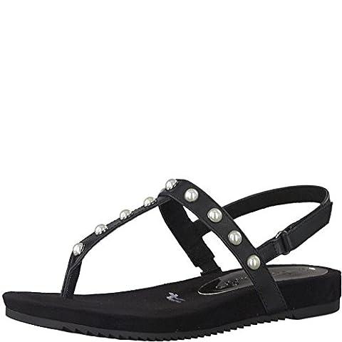 Tamaris Schuhe 1-1-28605-38 Damen Sandaletten, Sandalen, Sommerschuhe schwarz (BLACK), EU 39