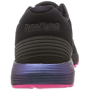 Asics Dynaflyte 3 Lite-Show, Zapatillas de Entrenamiento para Mujer, Negro (Black/Hot Pink 001), 38 EU