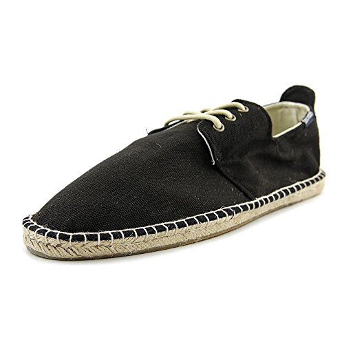 Soludos Derby Lace Up Toile Espadrille Black
