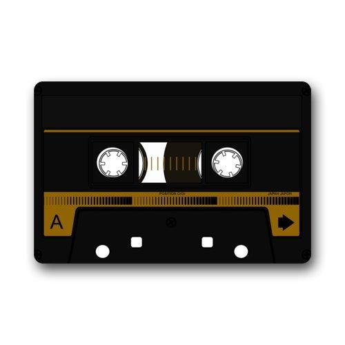 """Personalized Alfombrillas Fresco y diseño Especial de Cinta de Cassette de Interior/al Aire Libre Floor Mat Felpudo 23.6""""(L) X 15,7(W)"""