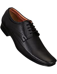 CALASO Black Corporate Formal Office Shoes
