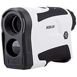 Boblov Telémetro de Golf Slope, Telémetro Monocular 600M 6 x Aumento Impermeable con Bloqueo de Bandera/Distancia/Medición de Velocidad/Vibración