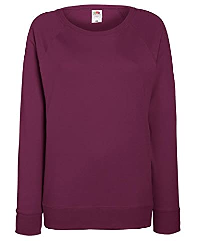 Womens Fruit Of The Loom Crew Neck Comfy Fit Sweatshirt Burgundy Size 2XL