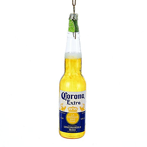 Kurt Adler CE4161 Corona-Flasche mit Limette, 13 cm (Glas Extra Corona Bier)