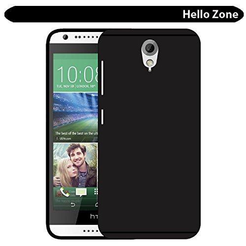 Hello Zone Exclusive Matte Finish Soft Back Case Cover For HTC Desire 620G Dual SIM - Black