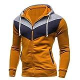 Männer Herbst Hoodies, Mann männlich Zipper Winter Sweatshirt Casual Langarm Patchwork Spleißen Hoodie Coat Top Moonuy
