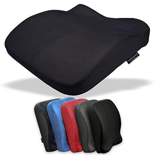 Medipaq 2-in-1 Sitz- und Rückenkissen aus Memory-Schaum, reduziert Rückenschmerzen, verbessert die Haltung zu Hause, Bürostühle, Rollstuhl oder Autositze.