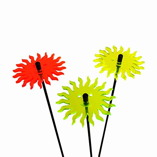 DSD Supplies ltd. SunCatcher 3er Set: 'lächelnde Sonne', 6cm, Farbe:gelb/orange / grün (Shamrock-party Supplies)