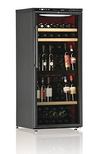 Ip Industrie - Cantina climatizzata con un'anta in doppio vetro e due scomparti indipendenti, capienza 96 bottiglie