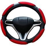 Nikavi NKVSWCSR Steering Wheel Covers (Red)