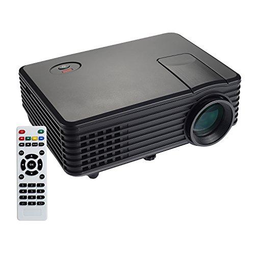 NexGadget LED Proyector Portátil 1080P Multifuncional 800*480 ResoluciónMultimedia Portátil Mini Entretenimiento Perfecto para Jugar Videojuegos y Ver Fútbol Películasen Casa