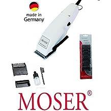 Rotschopf24 edición: Moser Profiline de pelo cortador de, a partir de 0.4 mm, + 6 plástico-artículos (3-25 milímetros), profesional juego de terrajas de roscar, Nuevo tecnología! 42408