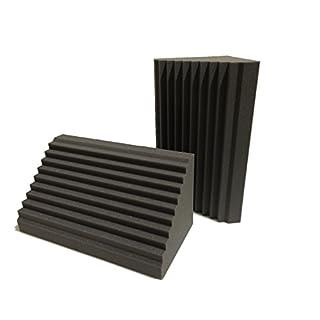 Advanced Acoustics Wellen-Bassabsorber, 60 cm, Akustikschaumstoff für Tonstudios, Keilform, 2Stück