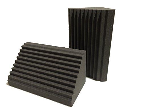 Trampa para graves Advanced Acoustics, en forma de cuña, de 60,96 cm, hecha para estudios de grabación; viene en paquete de 2 unidades
