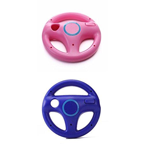 Mario Kart Volante Da Corsa Telecomando Per Nintendo Wii Controller - Rosa + Blu