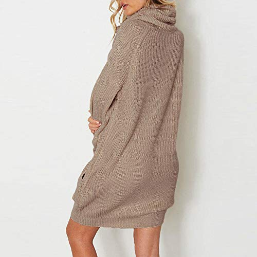 Pull Mode Col Haut Automne Hiver Femme Robe La Robemon✬chandail OnRg8zx